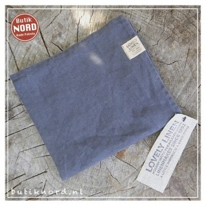 Kardelen Lovely Linen handdoek - theedoek  dark grey.