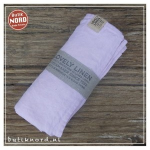 Kardelen Lovely Linen hamamdoek - dusty pink.