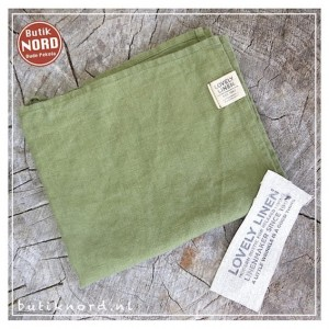 Kardelen Lovely Linen handdoek - theedoek  jeep green.