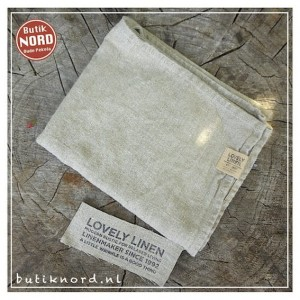 Kardelen Lovely Linen handdoek - theedoek natural beige.