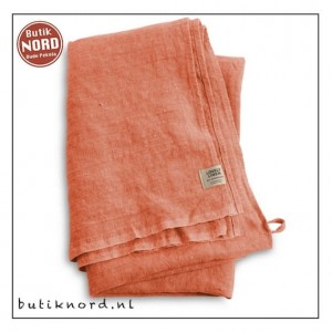 Kardelen Lovely Linen hamamdoek - peach.