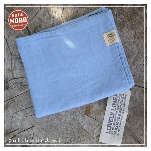 Kardelen Lovely Linen handdoek - theedoek dusty blue.