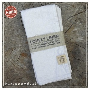 Kardelen Lovely Linen servet light grey.