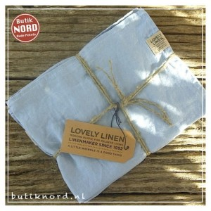 Kardelen Lovely Linen, set handdoeken Misty Sky