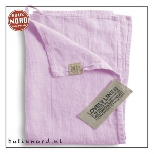 Kardelen Lovely Linen handdoek - theedoek  dusty pink