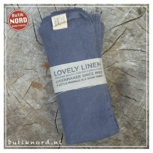 Kardelen Lovely Linen hamamdoek - dark grey.