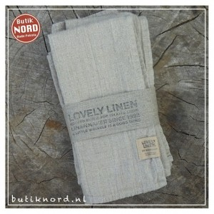 Kardelen Lovely Linen servet natural beige.