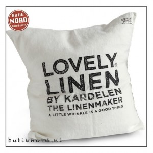 Kardelen logo kussenhoes 47 x 47 light grey.