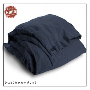 Kardelen dekbedovertrek 145 x 210 midnight blue.