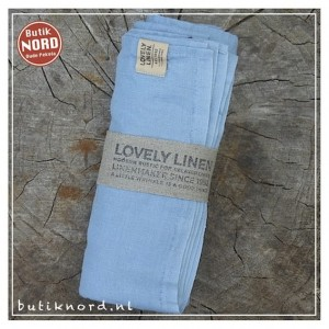 Kardelen Lovely Linen hamamdoek - dusty blue.