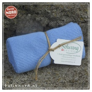 Solwang handdoek, light dusty blue. H20